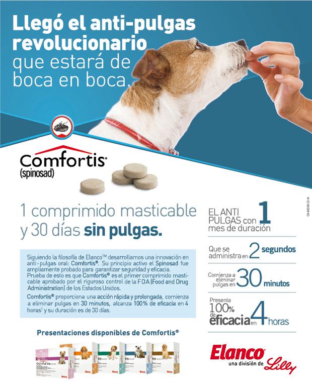 Comfortis con spinosad es una tableta antipulgas via oral for Como combatir las garrapatas en el jardin
